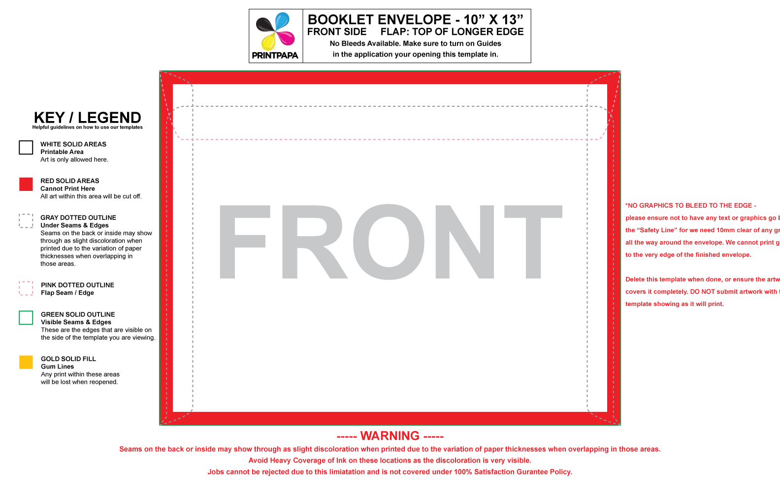 Find A Printing Template Printpapacom - Booklet envelope template