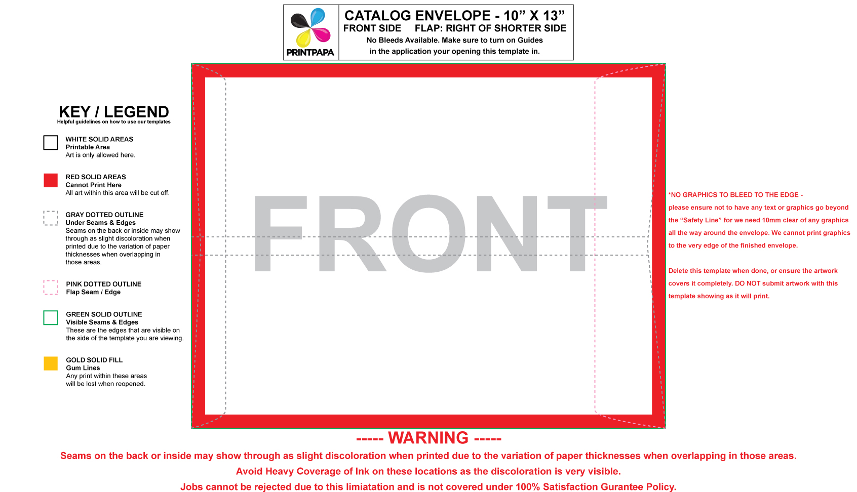 Find A Printing Template Printpapacom - 9x12 booklet envelope template