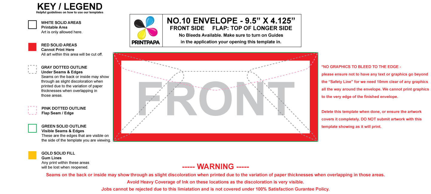 Find A Printing Template Printpapacom - No 10 envelope template