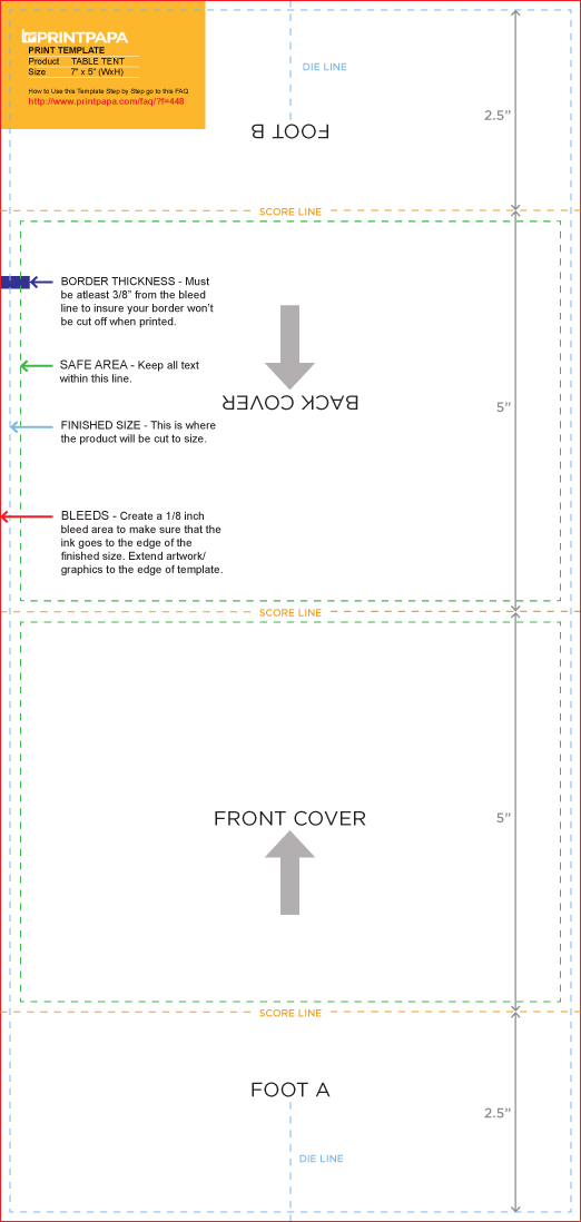 4x6 table tent template